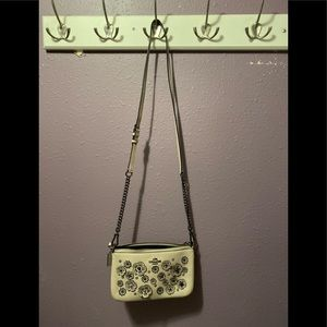 Coach taupe embellished crossbody 9x5